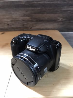 Nikon Coolpix L340 20.2 MP Digital Camera with 28x Optical Zoom and 3.0-Inch LCD (Black) for Sale in San Antonio, TX