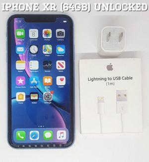 IPhone XR (64GB) Factory-UNLOCKED + Accessories for Sale in Arlington, VA