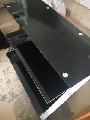 Metal frame Glass top Television stand for Sale in Raleigh, NC