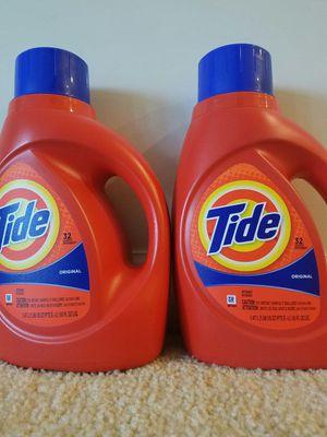 2 medium size 50 fl oz 32 loads Tide liquid laundry detergent bottles - $10 price firm for Sale in Rockville, MD