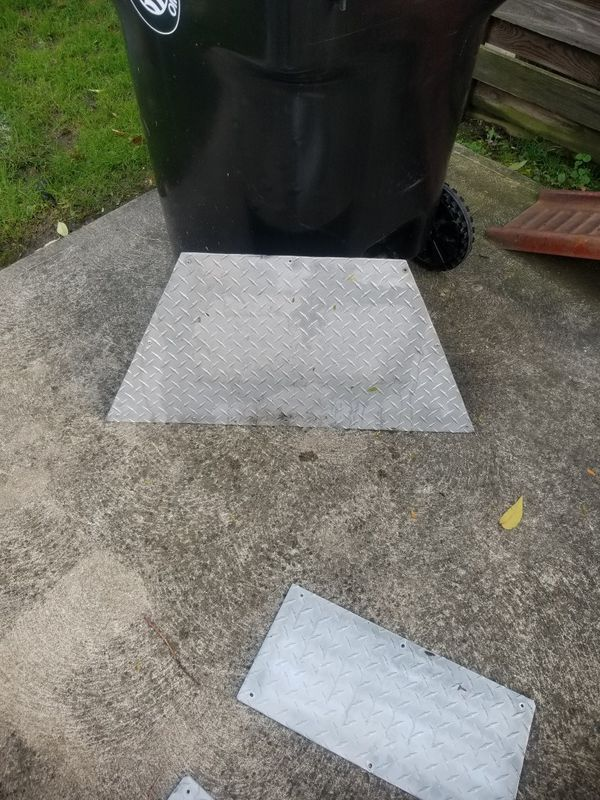 Diamond Plate and Spare tire for trailer