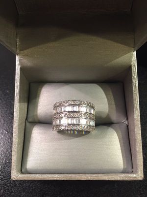 Stamped 925 Sterling Silver Multi Row Diamond for Sale in Washington, DC
