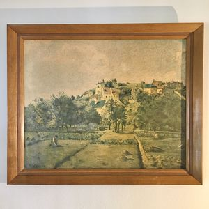 """""""The Gardens of l'Hermitage, Pontoise"""" by Camille Pissarro Framed Reprint for Sale in Sunnyvale, CA"""