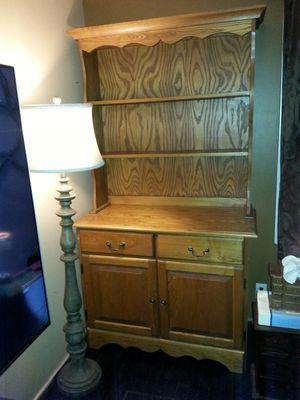 """Antique china hutch oak 42""""x19.5""""x76.5"""" for Sale in Seattle, WA"""