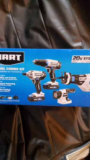 Hart 20 volt system 4 tool combo drill kit for Sale in Waldorf, MD