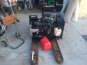Kubota. Generator 7 kw. 24 hrs only on it runs good needs new home pls be serious diesel for Sale in San Diego, CA