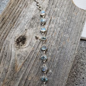 Rainbow moonstone and blue topaz bracelet for Sale in Anderson, CA