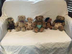 Six stuffed teddy bears with shoes for Sale in Grayslake, IL