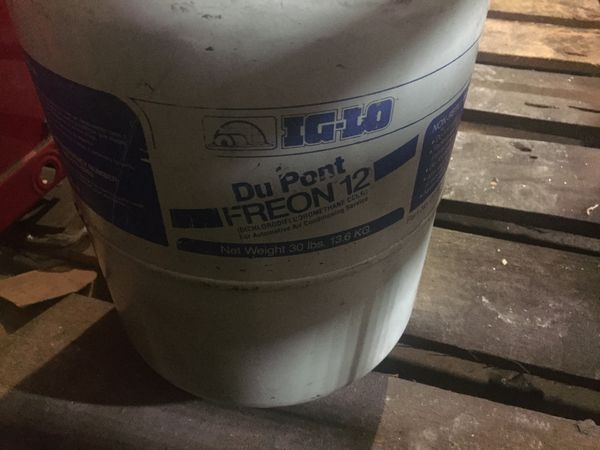 Freon gas R12 it has not touched in storage