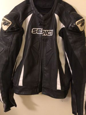 Sedici brand leather motorcycle jacket with removable liner for Sale in Santee, CA