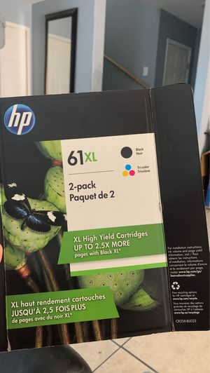 HP 61XL High Yield Original Ink Cartridge, Black/Tri-Color, 2 Pack, 480 Page Yield for Sale in Las Vegas, NV