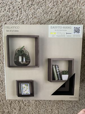 Wall cube shelves brand new in box never opened for Sale in San Diego, CA