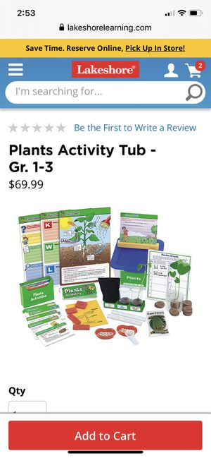 Homeschool Educational grade 1-3 activity tub lakeshore learning for Sale in Margate, FL