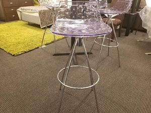 Set of 2 Clear Barstools for Sale in Coffeyville, KS