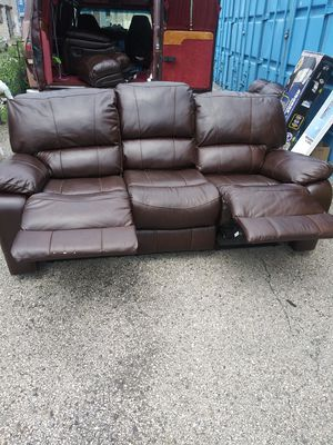 Leather recliner two sofas for 325 for Sale in Philadelphia, PA