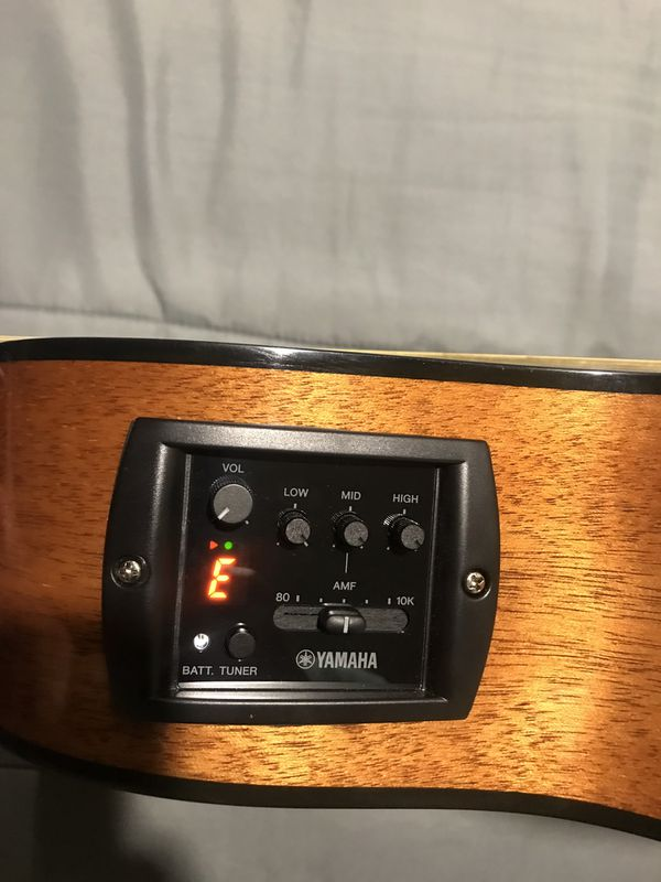 Yamaha Acoustic Guitar with built in tuner
