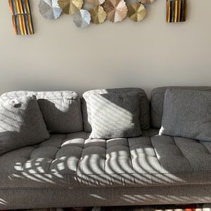 Comfy Gray Chaise Sofa! for Sale in Cary, NC
