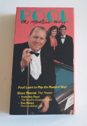 Pool The Masters Way Steve Mizerak The Master VHS for Sale in Tacoma, WA