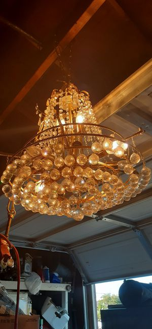 Cristal chandelier used for Sale in Norwalk, CA