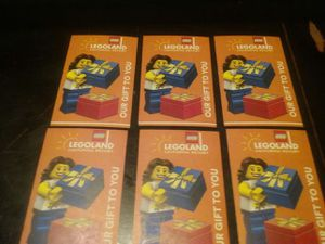 6 tickets to Legoland what Hopper to Sea life for Sale in Rancho Cucamonga, CA