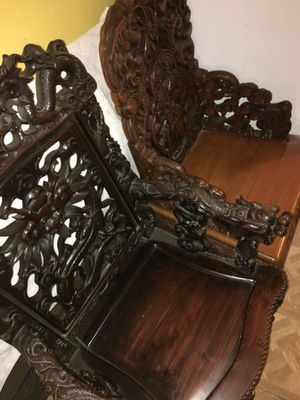 Wood Carved Chairs for Sale in Richmond, CA