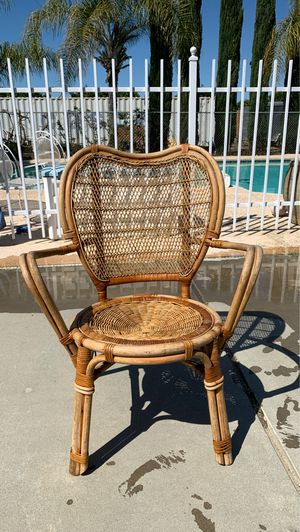 Vintage wicker chair for Sale in Reedley, CA