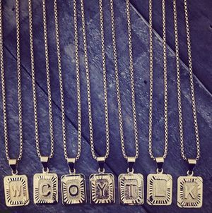 18k gold filled Initial Unisex Name Necklaces with Chain for Sale in Maywood, IL