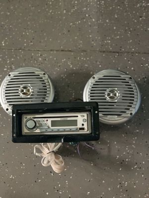Marine grade radio and speakers for Sale in Brandon, FL