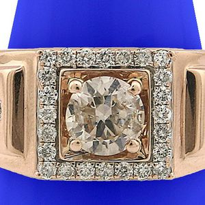U3720 MENS DIAMOND WEDDING RING 1.05CT 14K ROSE GOLD BAND for Sale in San Diego, CA