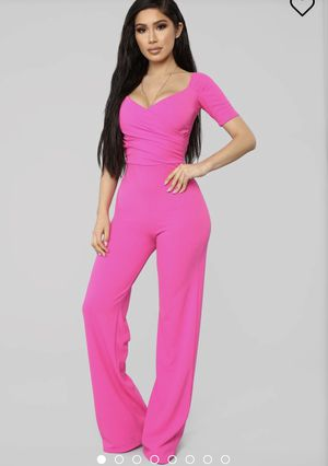 Hot pink fashion nova jumpsuit for Sale in Cleveland, OH