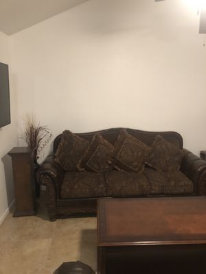 3 piece couch 2 tables 3 chairs for Sale in Phoenix, AZ