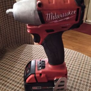 Milwaukee 18 Volt Brushlessp3/8In. Impact Wrench And 5hr. Red Lithium XC Battery 3 Speed Model #2654 -20 for Sale in Mount Vernon, WA