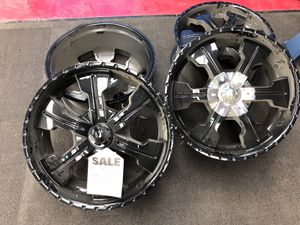 "22"" mega black rims for Sale in Brook Park, OH"