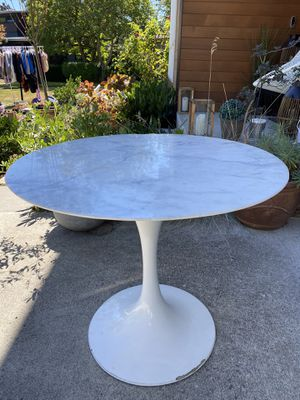 Modern White & Marble Table for Sale in Seattle, WA