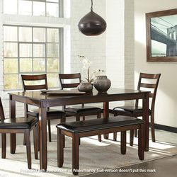 NEW, BROWN HIGH COUNTER DINING SET, 5 PC. for Sale in Ontario,  CA