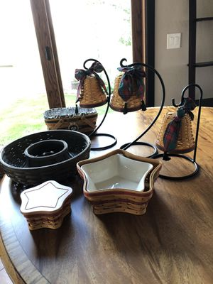 Longaberger Christmas Baskets and Paprika Pottery for Sale in Chandler, AZ