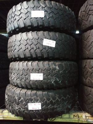 255/75R17 BF GOODRICH 255 75 17 MUD TERRAIN TIRES INSTALLED AND BALANCED INCLUDED 255 75 17 for Sale in Fort Lauderdale, FL