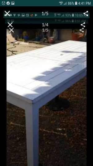 Huge restoration hardware patio table with extension can also use inside as kitchen table for Sale in Tracy, CA