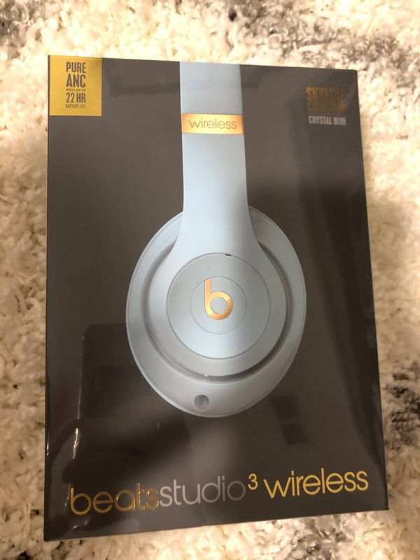 Beats Studio 3 Wireless Headphones Crystal Blue BRAND NEW