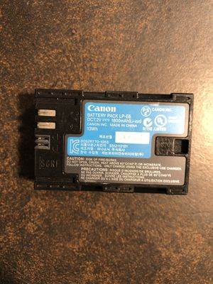 Canon battery for Sale in San Diego, CA
