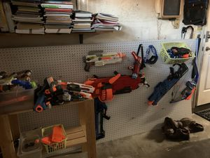 Nerd Guns: 13 Guns, Bullets for Rival and Standard, Magazines, and Mudulus for Sale in Glendora, CA