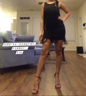 Black Fringe Flapper Mini Dress for Sale in Virginia Beach, VA