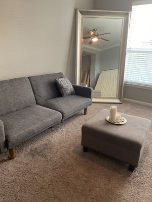 Living room, dinning room, bedroom set, large mirror, bar stools for Sale in San Leon, TX