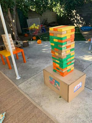Giant jenga,Cornhole and Giant Kerplunk rent all 3 for $50 for Sale in Chino, CA