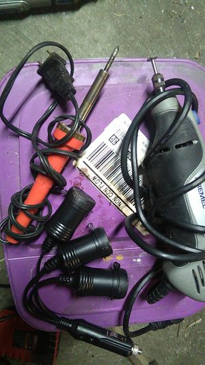 soldering iron , cigarette outlet converter, Dremel 8220 for Sale in Tacoma, WA