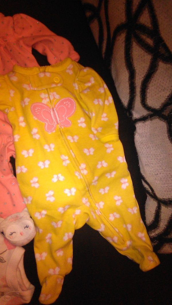 Little planet preemie & child of mine 3 snap up footed pjs & 3 onsiees 1 pant