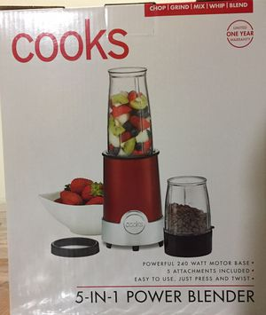 Cooks 5 in 1 power blender & set of 2 travel tumblers for Sale in Tampa, FL