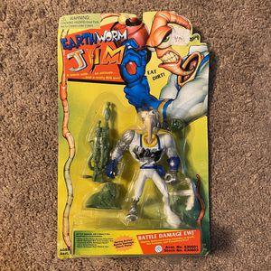 "Earthworm Jim ""Battle Damage EWJ"" Action Figure (2002) for Sale in Tacoma, WA"