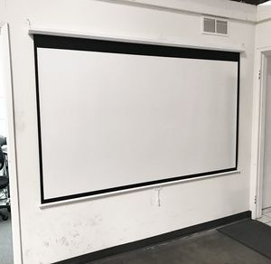 "New $45 Manual 100"" 16:9 Projector Screen Manual Pull Down Matte White Viewing Area: 87""x49"" for Sale in South El Monte, CA"
