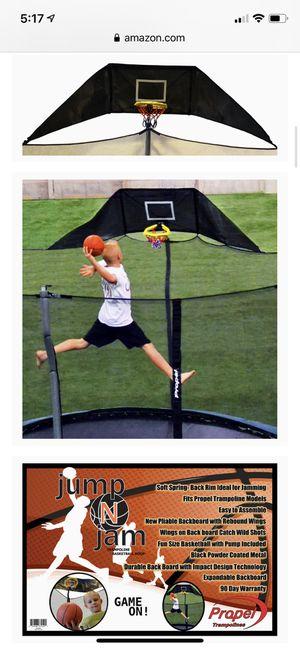 Jump N Jam Trampoline Basketball Hoop for Sale in Portland, OR